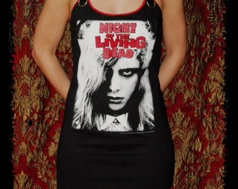 Night of the Living Dead shirt horror movie dress halloween zombie reconstructed alternative clothing apparel