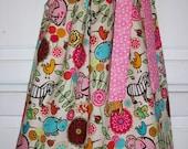 Pillowcase Dress ZOO ANIMALS with Pink Polka Dots baby toddler girl Summer