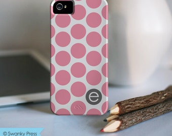 iPhone 7 Personalized Case  - Pink dotty initial  - other models available