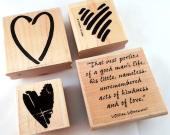 Heart Rubber Stamps - New and Used - Stampin' Up Valentine Rubber Stamps - Wedding, Valentines Day