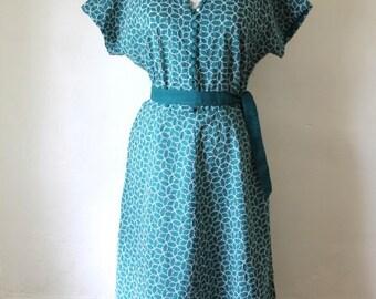 1950s Vintage Dress / Womens Medium / Large Vintage Dress