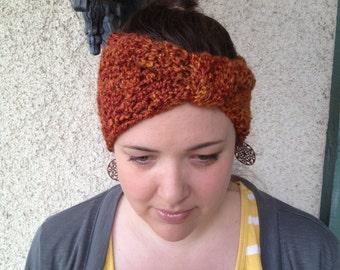 Crochet PATTERN Josey Turban style headband / head warmer / ear warmer (preemie through adult large sizes)