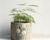 Vintage Faux Bois Pottery Planter