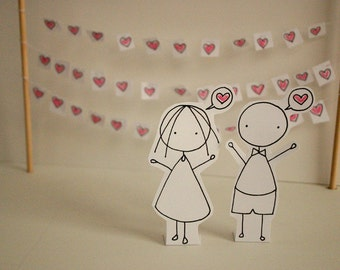 Valentines - I love you - Photo print - Paper diorama - letter size
