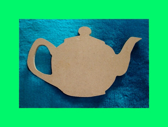 Teapot Shape  Unfinished Mdf Wood  Mosaic Base or Craft Shape