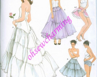Sewing Pattern Panties and Petticoat Simplicity 3737 6-8-10-12 Out of Print UNCUT