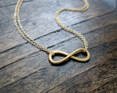 Gold Infinity Necklace / Double Strand Necklace / I'll Love you Forever And Always / Best Friend Infinity Necklace