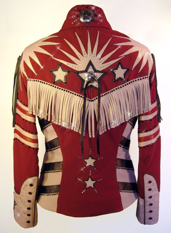 Items similar to american sweetheart western show jacket for Ranch dress n rodeo shirts