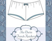 Lingerie Sewing Pattern Ladies' Ma Cherie French Knickers Depew 2018 Digital PDF Print at Home Pattern -INSTANT DOWNLOAD-