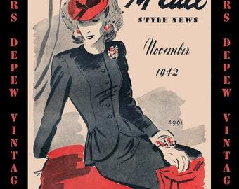 Vintage Pattern Catalog Booklet McCall Style News November 1942 PDF -INSTANT DOWNLOAD-