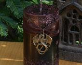 Dragons Blood . 3x4 Pillar Candle . Pure Golden Seal Resins