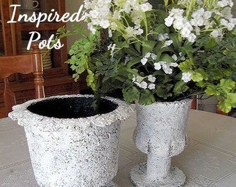 DIY French Inspired Pot Instant Download EPattern ETutorial by Edna Bridges