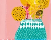 Geometric Vase Archival Art Print by Paula Mills for Sweet William - small and medium size