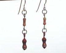 Resistor Earrings- Computer Jewelry, Found Object Jewelry, Geek Gift, Industrial Jewelry, Electronic Jewelry, Found Object Jewelry