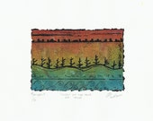Landscape Art Miniature, Miniature Collectable Art, Art Inspired By Nature, Small Colorful Wall Art