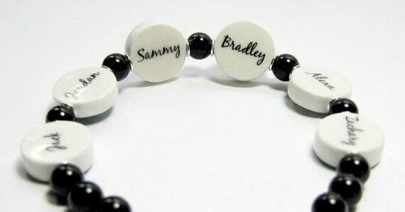 Pearl Bracelet with 6 Photo Charms - C8x6B9