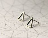 Small Triangles Stud Earrings - Sterling Silver