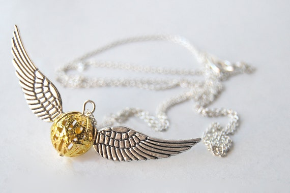 Open at the Close - Golden Snitch Necklace