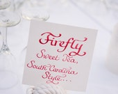 Calligraphy for Wedding Reception Signage