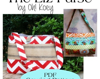Liz Everyday  Bag Pattern,Everyday Medium Purse Pattern PDF Sewing Pattern Ebook Sewing Tutorial Instant download INSTANT DOWNLOAD Delivery