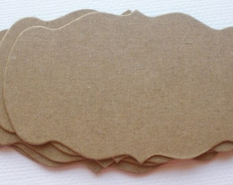 Mini BRACKET NOTES  - CHiPBOARD Die Cuts -  Alterable Craft Shapes
