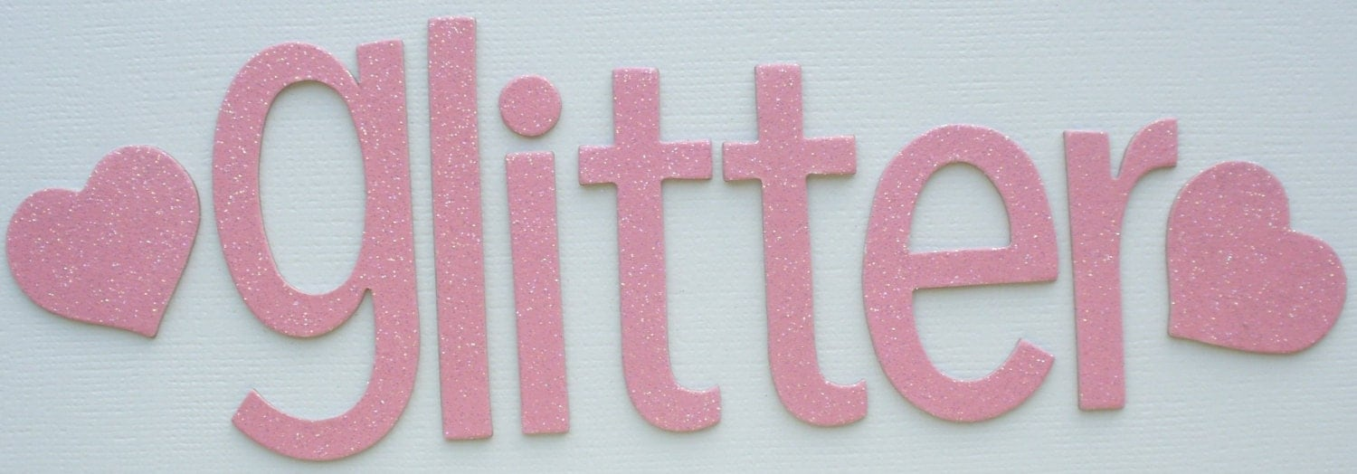 Cupcake glitter chipboard alphabet letters by for Where to buy chipboard letters