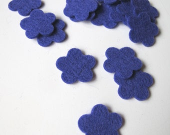 Felt Flowers, 100% Wool, Set of 15 Tiny Blossoms, 3/4 Inch,  Quilt Applique, Scrapbooking, Confetti, Party Supply DIY