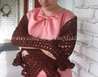 Beth - Lace Stole - In Gingerbread