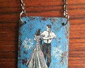 Romantic Necklace-dancing couple