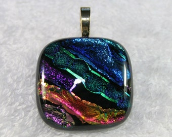 Cremation Jewelry with Ashes Mosaic Glass Fused Pendant Remember Your Pet Choose your style at checkout c34 or c36