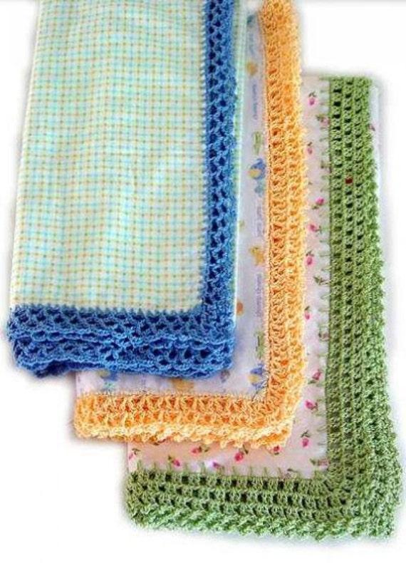 Receiving Blanket Eyelet Edging Crochet Pattern By
