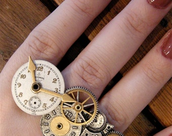 Steampunk Knuckle Ring