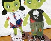 Printable PDF - Zombie Paper Dolls