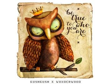The Owl King ART PRINT