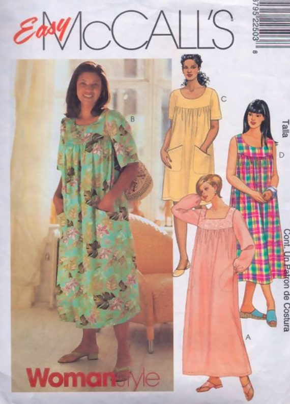 PLUS SIZE MuuMuu Dress Sewing Pattern - Hawaiian House Dresses - 3 ...