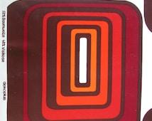 FABRIC original 1970s / retro vintage / DEKOPLUS / geometric graphic design panton age