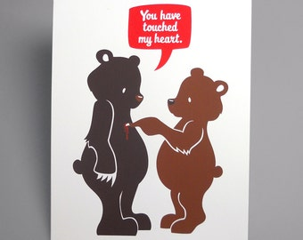 Touchy Bears Screenprint Limited Edition 8 x 10 print