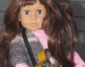 18 inch American girl Doll Gotz crochet cardigan easy sweater digital instant download Little Something cardigan sweater top pattern