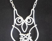 Wise Old Owl Necklace - Hand Wire Wrapped - Choose Your Color
