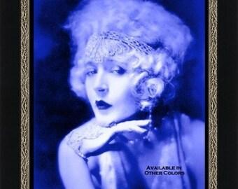 Flapper in Indigo -  Artist's Giclee Print