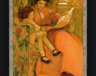 Jessie Willcox Smith: Mother and Daughter Reading - Giclee Fine Art Print