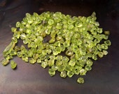 Peridot crystals - 20 grams - raw rough natural Peridot - small pieces - lot of crystals vial necklace sized  august birthstone stone green