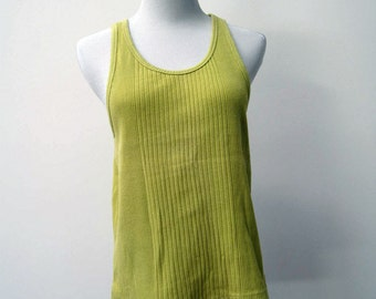 80s mustard colored Esprit tank top size Medium