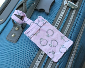 Luggage Tag - Pink Engagement Rings