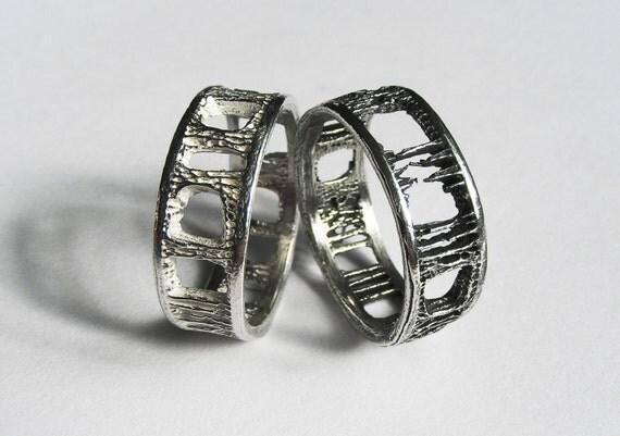 Silver Shark Vertebra Ring - Large