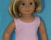 American Made 18 inch Doll Pink Sleeveless Tank Tee Shirt