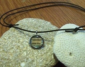 Embolden your day - Collage Charm on Leather Necklace