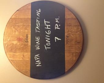 Wine Barrel Chalkboard