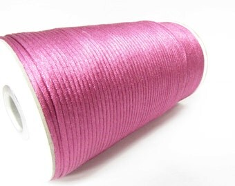 Magenta Cord 2mm Cord macrame cord Kumihimo cord 2 yards satin cord Necklace cord