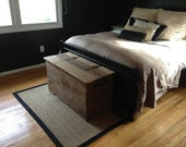 Custom Made Reclaimed Rustic Barn Wood Storage Chest, Coffee Table or Bench with Free shipping BWSCBF